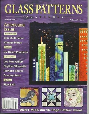 STAINED GLASS PATTERNS QUARTERLY Magazine WINTER 40 4040 PicClick Unique Glass Patterns Quarterly