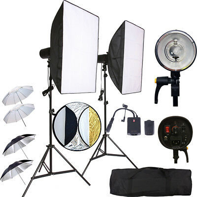 2X150W Kit Flash Strobe Wireless Softbox Studio Light Dslr Canon Nikon Sony Trig