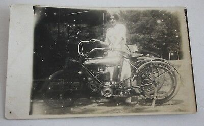 Vintage 1910-1915 Schickel Motorcycle Photograph Postcard