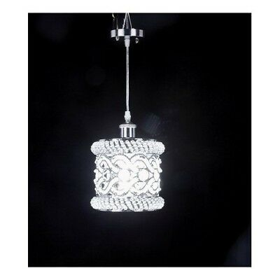 Crystal Mini Pendant Light Modern Contemporary Fixture Chrome Ceiling Chandelier