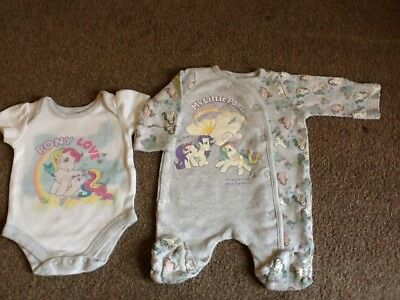 Mothercare My Little Pony Sleepsuit and Vest Set First Size