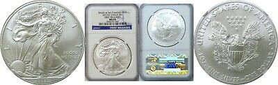 2012 (S) $1 American Silver Eagle NGC MS 69 First Releases Blue Label