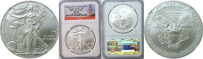 2012 (S) $1 American Silver Eagle NGC MS 69 First Releases Red Label