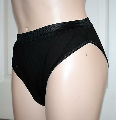 Ladies High Leg Incontinence Pants - Black - Washable womens incontinence pants