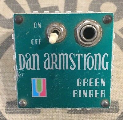 Vintage Dan Armstrong Green Ringer Ring Mod. Octave Effect Circa 1970s