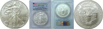 2012 (S) $1 American Silver Eagle PCGS MS 69 First Strike Flag Label