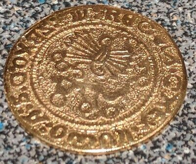 Replica spanish coin two-real of Castile novelty coin of unknown metal