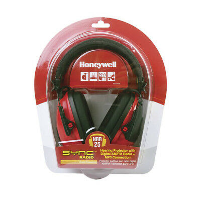 Honeywell RadioHearing protector Earmuff, with AUX input jack Red/B - RWS-53012