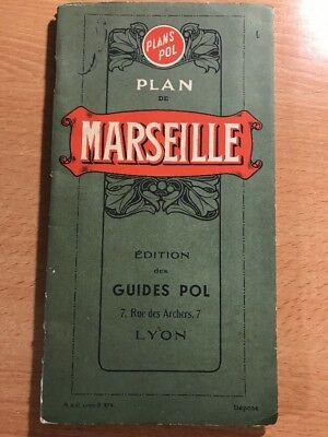 Ancien Plan De Marseille, Guides POL, 1941