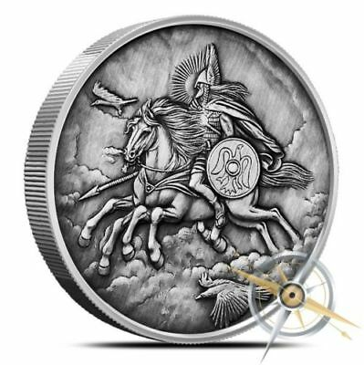 5OZ Odin's Steed - Sleipnir Nordic Creatures - World Tree Antiqued Silver Beauty