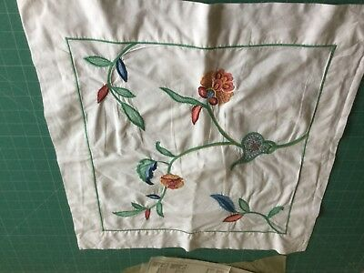 """Martex cotton embroidered pillow case 20x21"""" approx"""