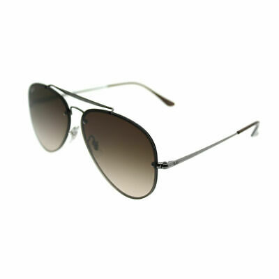 c64e0603d035a7 Ray-Ban Blaze Aviator RB 3584N 004 13 Gunmetal Sunglasses Brown Gradient  Lens