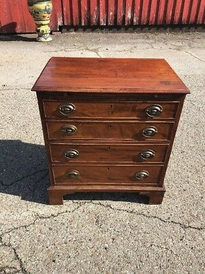 Antique 19th Century English Bachelor Chest Commode