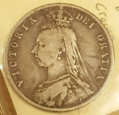 1887 Great Britain Silver Half Crown Coin