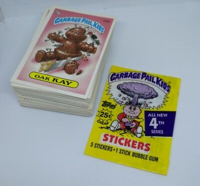 Topps Garbage Pail Kids Near Complete Original Series 4 87 Card Lot Wax Wrapper