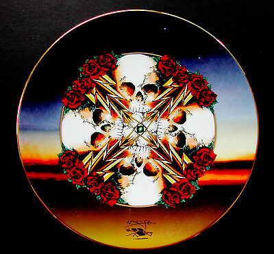 Grateful Dead Plate Stanley Mouse Art Lightening Rose Hamilton Collection Plates