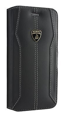 Lamborghini Huracan D1 Leather Flip Сase iPhone 7 Plus, 8 Plus Black