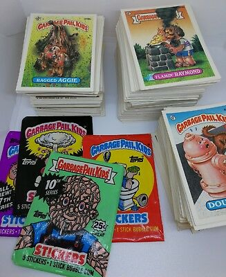 Garbage Pail Kids Original Series 2 to 11 No Duplicates Wax Wrapper Card Lot VTG