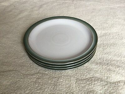 Denby Regency Green Dinner Plates X 4
