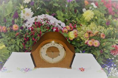 Smiths Antique Art Deco Westminster Chime Mantel Clock, 1955. Stunning!