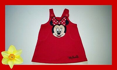 *ENGLAND*Disney*George Kleid*Gr.74*Rot*Minnie Mouse*Latzkleid*