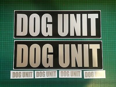 DOG UNIT Magnet K9 Handler Car Door Magnetic Sign Security SIA 460mm x 2