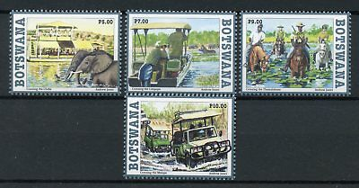 Botswana 2017 MNH Crossing Rivers 4v Set Elephants Horses Cars Stamps