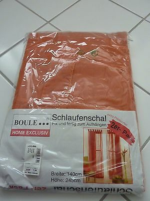 Schlaufenschal-Set(2), orange, 100% Polyester, Originalverpackt ! B140*L245cm