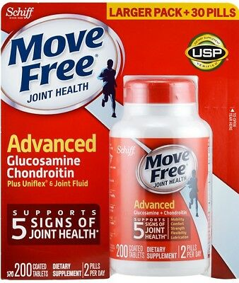 Schiff Move Free Advanced Glucosamine Chondroitin 200 Tablets