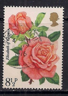 GB 1976 QE2 8 1/2p Rose Society Used Stamp SG 1006. Great Yarmouth pmk ( M418 )
