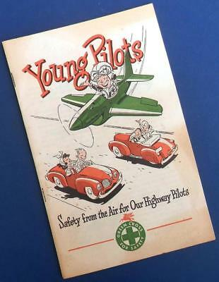 "1946 MOBILGAS Teen Student Driver Training Guide ""YOUNG PILOTS"""