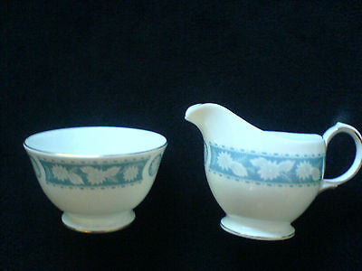 Royal Vale Blue Flower Pattern Number 86181 Jug and Sugar Bowl