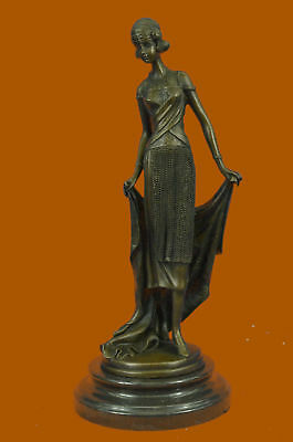 Hand Made tribute to Erte by J.Kassin Bronze Sculpture Home Office Decoration