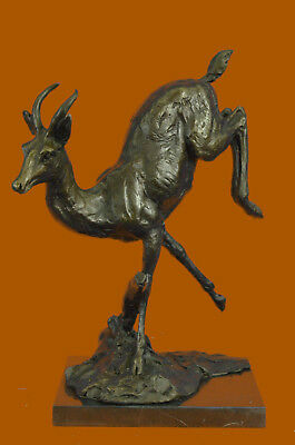Hand Made Stag Buck Deer Classic Animal Bronze Sculpture Detailed Figurine UG