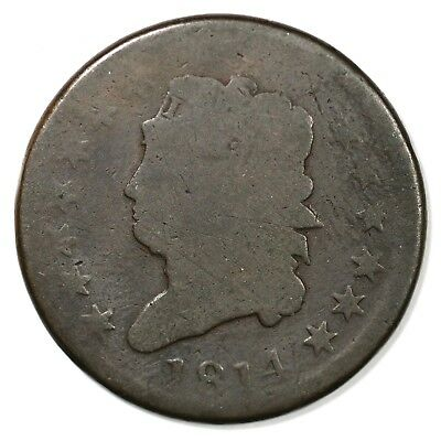 1814 Classic Head Large Cent Coin 1c