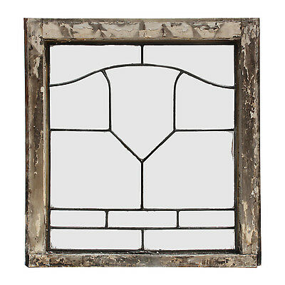 Antique American Leaded Glass Windows, 2 Available, NLG158