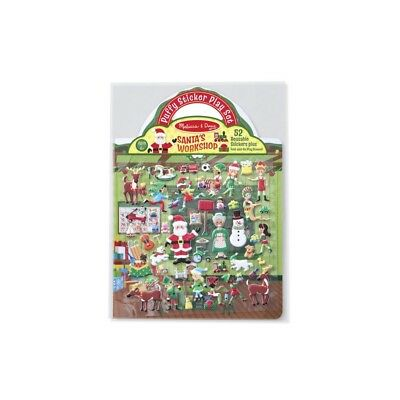 Melissa and Doug Reusable Puffy Sticker Play Set - Santa's Workshop