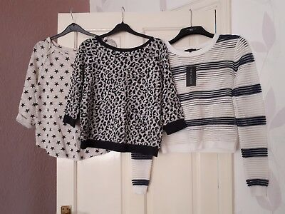 newlook bundle of lightweight jumpers size 8-10