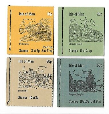 Isle of Man - Booklets - 10p/25p/30p and 50p - Complete