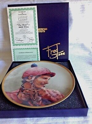 """Fred Stone """"The Shoe""""-8000 Wins Collector Plate"""