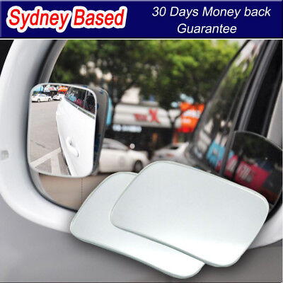 2x Blind Spot Mirror Rearview Side Convex Wide Angle Adjustable