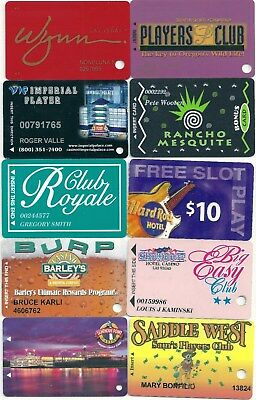 Lot of10 Different Casino Slot Cards