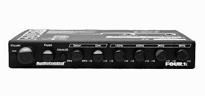 AudioControl Four.1i, In-Dash 5 Band Equalizer Pre Amp Line Driver Aux Input