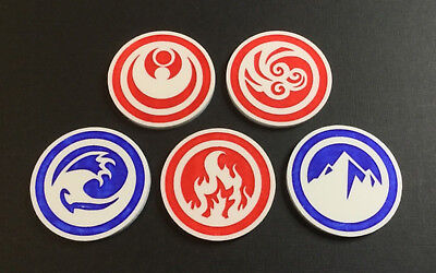 Legend of the Five Rings - Acrylic Ring token set