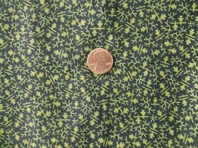 ~Back In Time Textiles~Fantastic Pre-Civil War Overdyed Green Calico fabric~