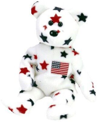 TY Beanie Baby - GLORY The Star Bear (1997) RETIRED USA 4th Of July