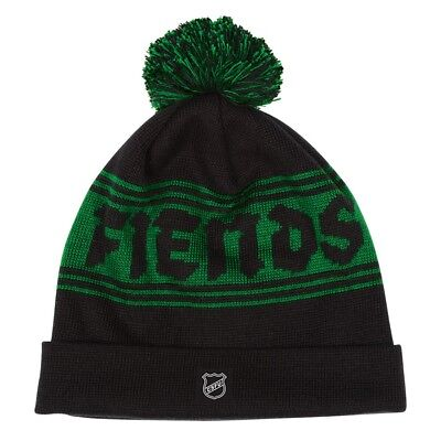 f3011b657c4 Creature FIENDSHOT POM LONG SHOREMAN Skateboard Beanie BLACK GREEN