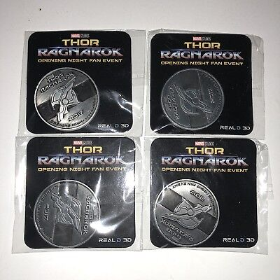 Thor Ragnarok Opening Night Fan Event 2017 Coin Theater Promo Marvel Studios Lot