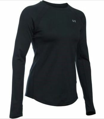 NEW Womens Under Armour ColdGear Long-Sleeve Crew Top NWT   style # 1281244-001