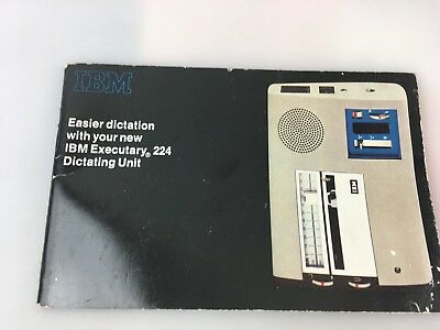 Vintage - I.b.m. - Booklet For Ibm Executary 224 Dictating Machine